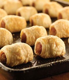 Caterer Mary Giuliani's fan-favorite pigs in a blanket go a little upscale when wrapped in phyllo dough.