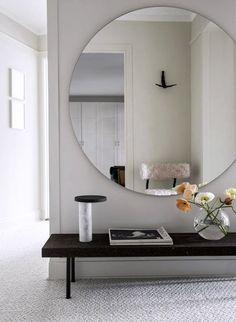 Espejo y banca