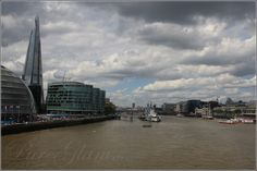 The Shard from Tower Bridge on a beautiful day - London, UK, Great Britain