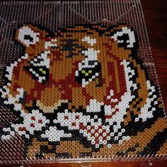 Tiger hama beads by 24cristinamartin