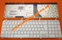 HP Pavilion DV7-2000 DV7-3000 Laptop Keyboard UK Keyboard White