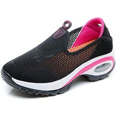 f977eea1605c3 Women s Running Sneakers Lace Up Slip On Breathable Platform Height  Increased Tennis Fitness Shoes     Details can be found by clicking on the…