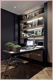 If you are a man and used to work at home, here are some cool ideas how to design a home office in a masculine style. Check at these Amazing Home Office Design Ideas For Men. Mesa Home Office, Home Office Desks, Home Office Furniture, Furniture Ideas, Furniture Buyers, Office Workspace, Furniture Stores, Casa Clean, Luxury Office