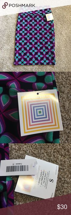 Lularoe Cassie skirt New with tags, tight fitting skirt, stretchy material! No trades LuLaRoe Skirts