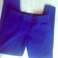 Limited cobalt blue ankle skinny pant Worn only a few times The Limited Pants Ankle & Cropped