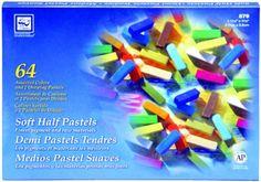Loew-Cornell Soft Half Pastels, 64-Count