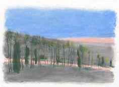 Cedars Among Them, 2014 Pastels - Wolf Kahn