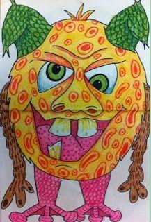 The Lost Sock : Textured Monsters inspired by Maurice Sednak's Where the WIld Things Are - příšerka Classroom Art Projects, School Art Projects, Art Classroom, Monster Art, Plant Monster, Art Plastique Halloween, Arte Elemental, Art Halloween, 2nd Grade Art