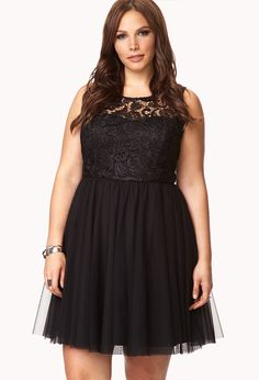 Festive Floral Crochet Dress | FOREVER21 PLUS - 2040495396