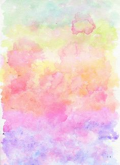 Rainbow Watercolour Gradient Stretched Canvas