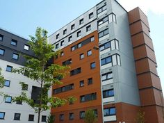 alsecco have installed approx of Ecomin 300 system in the development of the Student Village. University Architecture, Facade Design, Facades, Design Projects, Multi Story Building, Student, College Students, Facade