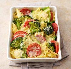 Rezept: Broccoli-Nudel-Auflauf mit Tomaten