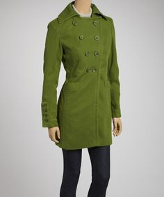 Take a look at this Pink Martini Collection Green Peacoat on zulily today!