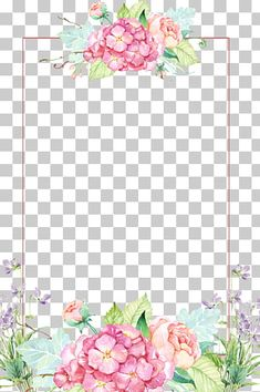 Flower , Beautiful flower borders, pink and yellow floral border transparent background PNG clipart Wreath Watercolor, Watercolor Leaves, Watercolor Flowers, Watercolor Paintings, White Rose Flower, Pink And Purple Flowers, Pink Poppies, White Flowering Plants, Rose Flower Arrangements