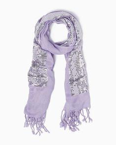 charming charlie | Sequin Stripe Scarf | UPC: 450900498856 #charmingcharlie