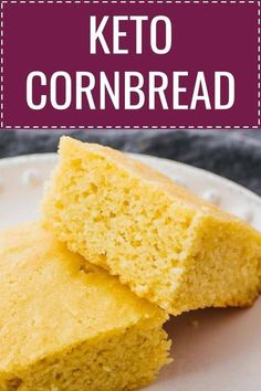 This easy homemade cornbread recipe is gluten free, low carb, and keto friendly!… – Best Breakfast and Brunch Recipes - keto diet Keto Corn Bread, Easy Keto Bread Recipe, No Bread Diet, Best Keto Bread, Low Carb Bread, Low Carb Keto, Bread Recipes, Corn Bread Gluten Free, 7 Keto