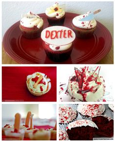 Dexter Cupcakes - getting ready for my 'Slice of Life' Dexter Cakes event...