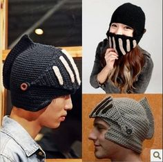 2014 Novelty The Roman knight Handmade knitted hat winter cap for men Beard / octopus hats wholesale Free Shipping-in Skullies & Beanies from Apparel & Accessories on Aliexpress.com | Alibaba Group