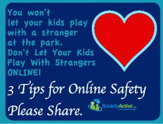 Parents, help your kids and teens stay safe online with these three IMPORTANT tips. from Socially Active. Staying Safe Online, Stay Safe, Strangers Online, Kids Online, Kids Playing, Safety, Parents, Youth, Let It Be