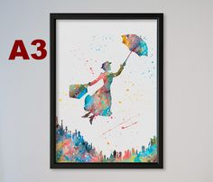 Weiteres - Mary Poppins A3 Kunstdruck Bild Plakate Poster von Traumweber via DaWanda.com