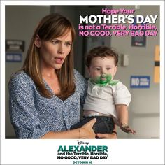 ALEXANDER AND THE TERRIBLE, HORRIBLE, NO GOOD, VERY BAD DAY Fun Mother's Day card! #VeryBadDay -
