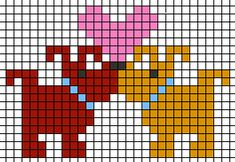 dog love cross stitch pattern heart at Valentine