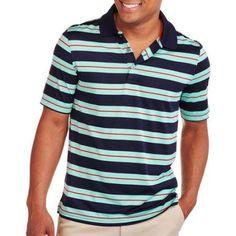 George Men's Stripe Performance Polo, Size: Medium, Multicolor