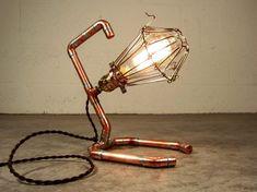 Edison Copper Desk/Wall Lamp  Steampunk  Handmade by spicyBulb, $89.00