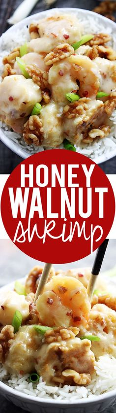 Easy Honey Walnut Shrimp Recipe | Creme de la Crumb