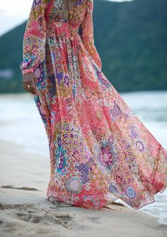 Float through summer in a printed maxi. You'll be sure to turn heads!