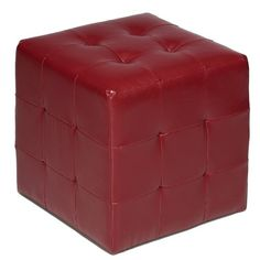 Cortesi Home Braque Tufted Cube Ottoman in Leather Like Vinyl, Red Cortesi Home,http://www.amazon.com/dp/B00E46LOWY/ref=cm_sw_r_pi_dp_-Dyctb0Y2FZ2ZWR1