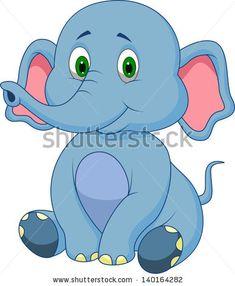 Cute baby elephant cartoon vector image on VectorStock Eagle Cartoon, Cute Elephant Cartoon, Cute Panda Cartoon, Deer Cartoon, Cute Baby Elephant, Baby Elephants, Elephant Images, Cute Squirrel, Cute Lion