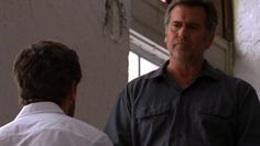 "Burn Notice 2x10 ""Do No Harm"" - Sam Axe (Bruce Campbell) & Philip (Matthew Humphreys)"