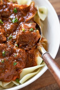 Beef Goulash is a classic Eastern European recipe, prepared with tender chunks of beef simmered in a rich and flavorful sauce! Beef Bourguignon, Beef Dishes, Pasta Dishes, Beef With Mushroom, Ground Beef Pasta, Beef Tips And Gravy, Ground Beef Recipes Easy, Beef Chunks Recipes, Stewing Beef Recipes