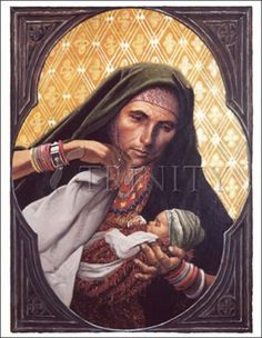 "St. Elizabeth, Mother of John the Baptizer | Catholic Christian Religious Art - Artwork by Louis Glanzman - From your Trinity Stores crew, ""Amazing Women of the New Testament!"""
