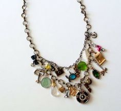 Charm necklace - <3 this  #handmade #jewelry