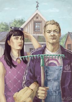 "Clint Barton and Kate Bishop on the farm in ""American Hawkeye""."