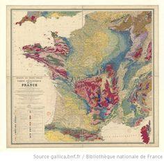 Ministère des Travaux publics. Carte géologique de la France 1/1 000 000 : exécutée en utilisant les documents publiés par le Service de la carte géologique détaillée de la France par un comité composé de [36 scientifiques] - 1905