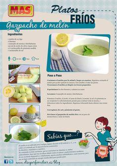 Una #receta diferente: ¡Gazpacho de melón! #InfoReceta #Gastronomia