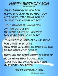Happy Birthday to My Son From Mom   Living Life With The Love's