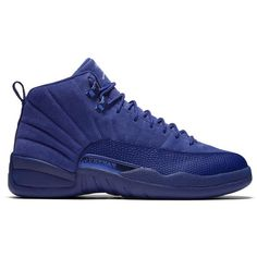 best cheap 3ffe4 a8505 Air Jordan 12 Retro Blue Suede ❤ liked on Polyvore featuring shoes,  sneakers and jordans