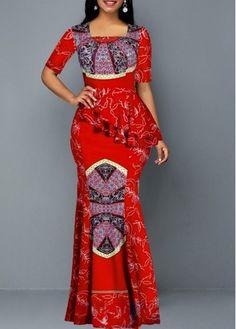 Cheap maxi Dresses online for sale Latest African Fashion Dresses, African Dresses For Women, African Print Fashion, Women's Fashion Dresses, Tribal Dress, Necklines For Dresses, Tight Dresses, Maxi Dresses, Maxi Dress With Sleeves