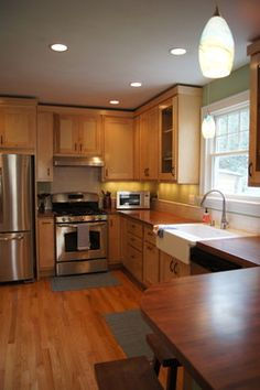 Birch Kitchen! I Love How This One Turned Out! Wood Counter Tops, Custom