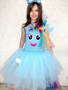Rainbow Dash, inspired by My Little Pony tutu costume dress on Etsy, $30.00