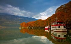 Autumn in Ioannina town, Epirus, Greece Fall City, Summer Sunset, City Break, Greek Islands, Greece Travel, Holiday Destinations, Countryside, Natural Beauty, Places To Go