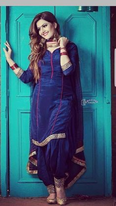 Girls' Silk Blend Salwar Kameez Traditional South & Central Asian Clothing for sale Patiala Suit Designs, Salwar Neck Designs, Kurti Designs Party Wear, Punjabi Suit Neck Designs, Simple Indian Suits, Punjabi Suit Simple, Indian Suits Punjabi, Latest Punjabi Suits, Salwar Suits Simple