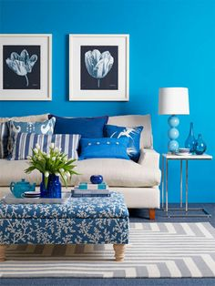 I adore this color blue. Maybe a little too bright for a wall color, but I love it all the same