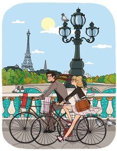 En bici por los puentes del Sena