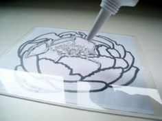 make your own STAMPS with plexiglass & clear rubber caulking.