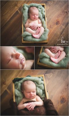 newborn baby boy from Brownsburg - green and brown